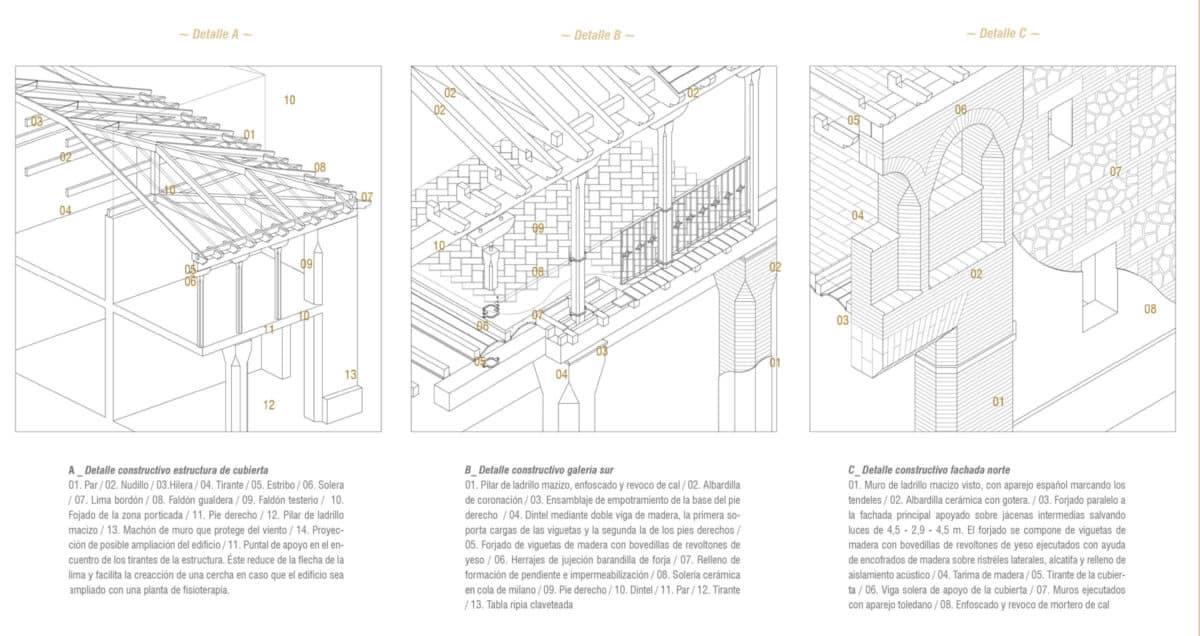 Detalles constructivos del Centro de Mayores