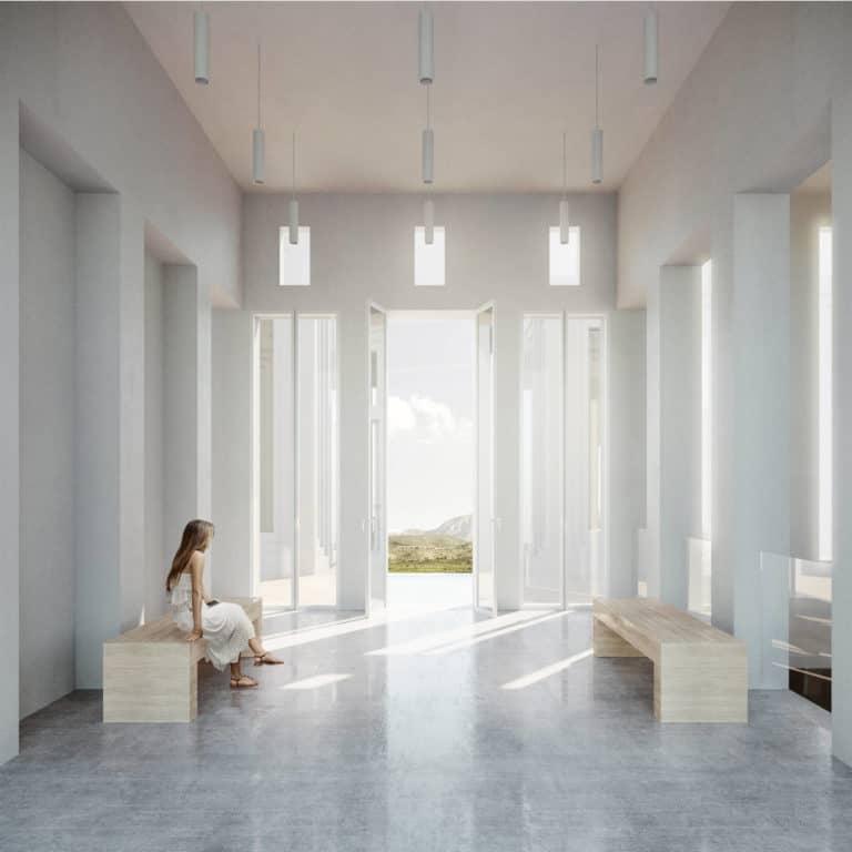 FUNDACIÓN BRINES_Vista interior vestíbulo