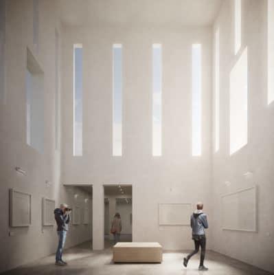 FUNDACIÓN BRINES_Vista interior sala de exposiciones