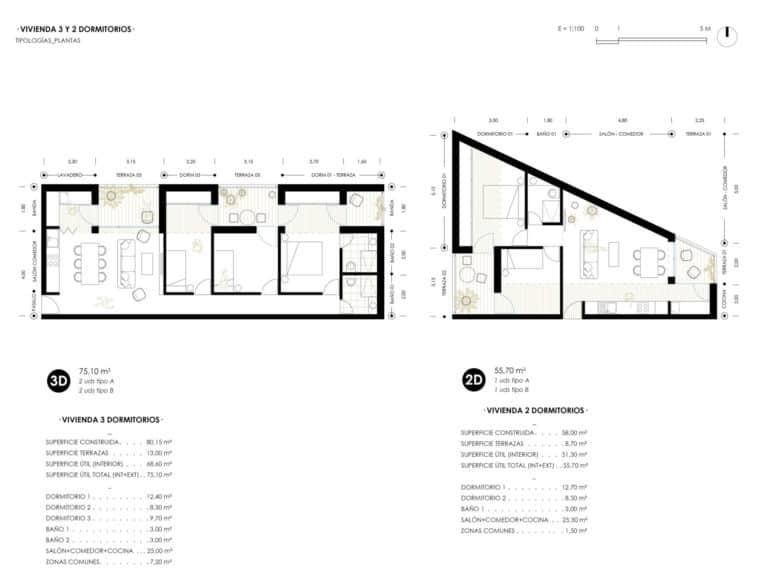 OCNOS_Planta tipologia 3D y 2D