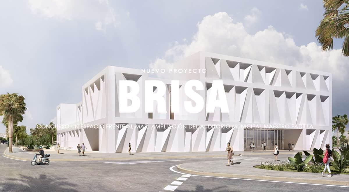 Jimenez & Linares Proyecto Brisa en el concurso para la ampliación del auditorio de Almería 2019