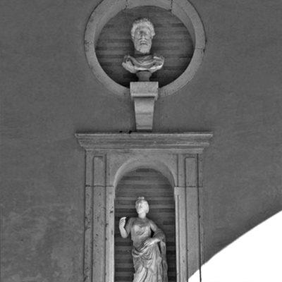 Jimenez & Linares_ Referencia de proyecto en la vivienda AQ. Detalle de la loggia de Casa Pilatos, Sevilla