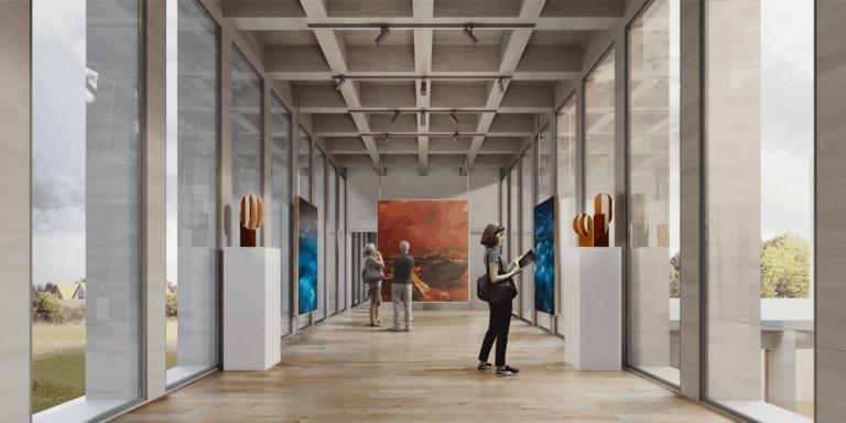JIMENEZ&LINARES_Centro Cultural Santa Cruz de Bezana_Vista de la sala de exposiciones