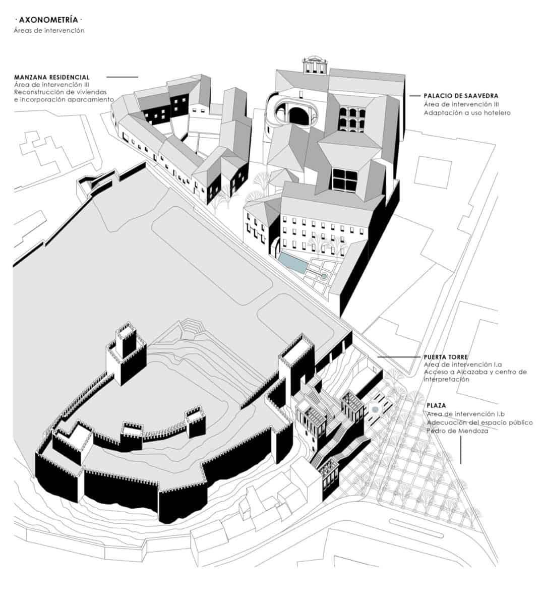 JIMENEZ&LINARES_DRIEHAUS GUADIX_Axonometría urbana