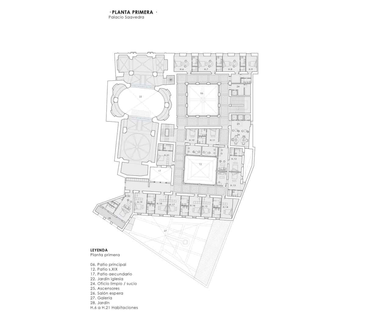 JIMENEZ&LINARES_DRIEHAUS GUADIX_Planta primera del Palacio de Saavedra